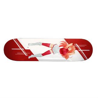 Indonesia Manga girl dressed in Flag - Indonesian Custom Skate Board