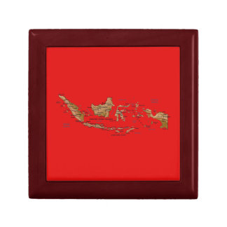 Indonesia Map Gift Box