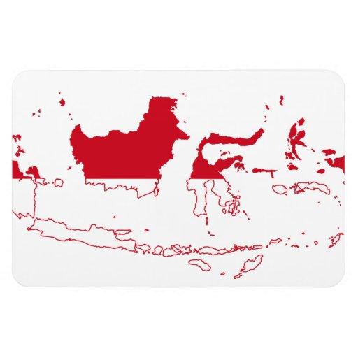 INDONESIA MAP VINYL MAGNET
