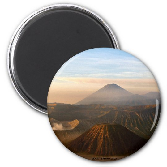 INDONESIA: Mount Bromo, Java 6 Cm Round Magnet