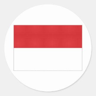Indonesia National Flag Round Sticker