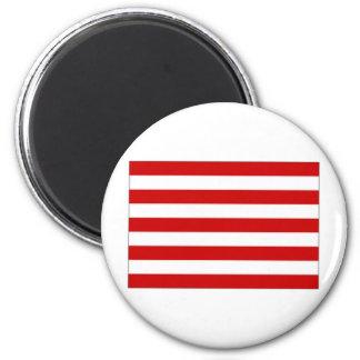 Indonesia Naval Jack 6 Cm Round Magnet