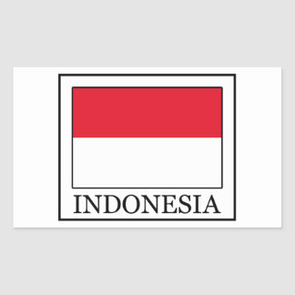 Indonesia Rectangular Sticker