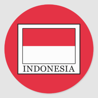 Indonesia Round Sticker
