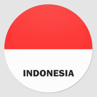 Indonesia Roundel quality Flag Classic Round Sticker