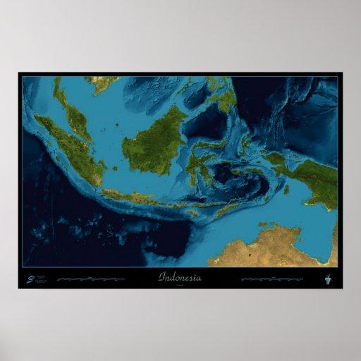 Indonesia satellite print poster
