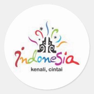 indonesia tag round sticker