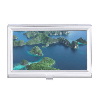Indonesia, West Papua. Aerial Of Raja Ampat Business Card Holder