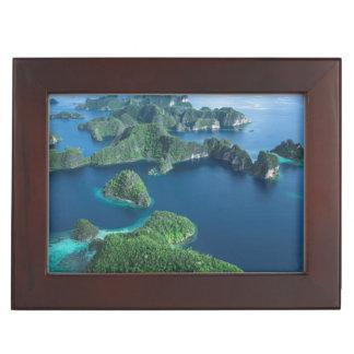 Indonesia, West Papua. Aerial Of Raja Ampat Keepsake Box