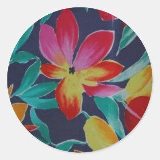 Indonesian Floral Batik Stickers