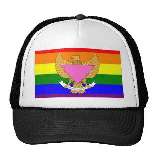Indonesian GLBT Pride Flag Trucker Hats