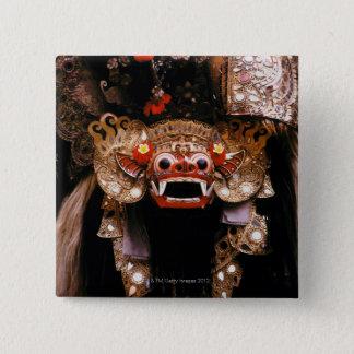Indonesian mask 15 cm square badge