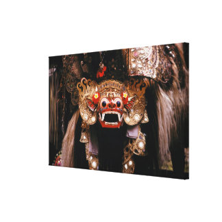 Indonesian mask canvas print