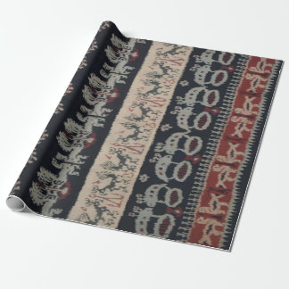 Indonesian Tribal Ikat Textiles Weavings Indonesia Wrapping Paper