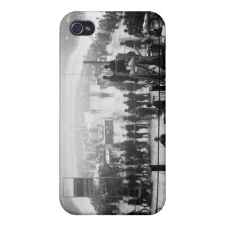 Indoor Motorcycle Race, early 1900s iPhone 4 Case