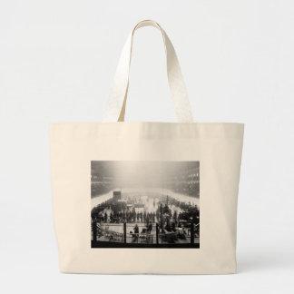 Indoor Motorcycle Race, early 1900s Jumbo Tote Bag