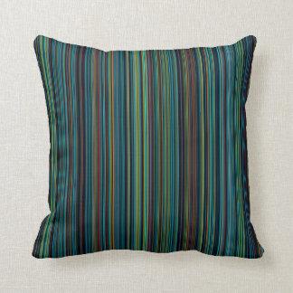 indoor or outdoor blue brown aqua stripe purple throw pillow