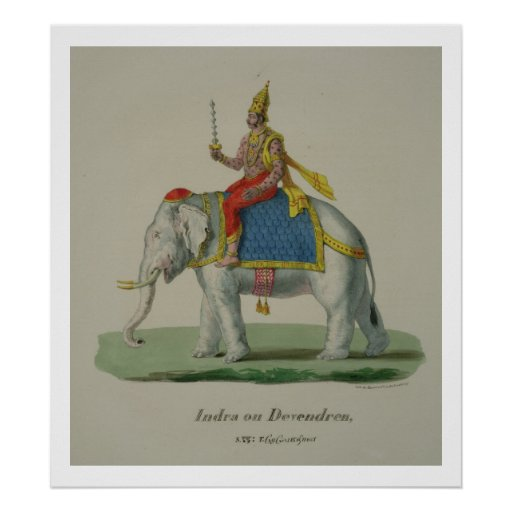 Indra, engraved by Marlet et Cie (colour litho) Poster
