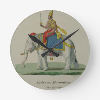 Indra, engraved by Marlet et Cie (colour litho) Round Clock