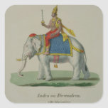 Indra, engraved by Marlet et Cie (colour litho) Square Sticker