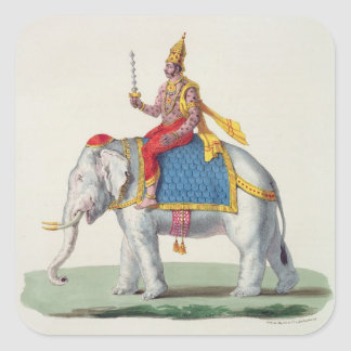 Indra or Devendra from L Inde francaise eng Square Stickers