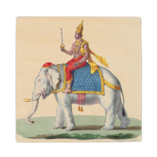 Indra or Devendra, from 'L'Inde francaise...', eng Wood Coaster