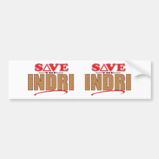 Indri Save Bumper Sticker