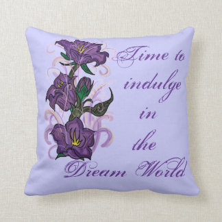 Indulge Dream World purple floral decorate pillow