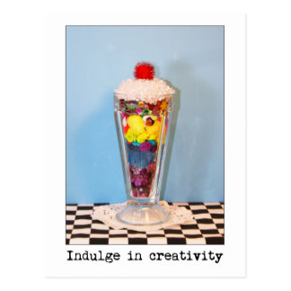 Indulge In Creativity Photography Postcard