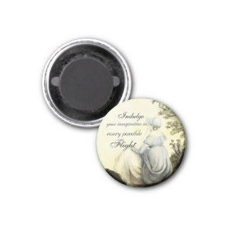 Indulge Your Imagination Button Magnet