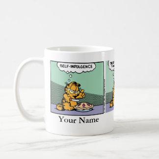 """Indulge Yourself"" Garfield Comic Strip Basic White Mug"