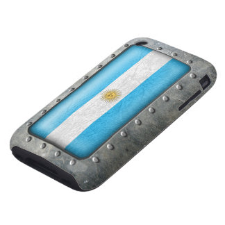 Industrial Argentine Flag iPhone 3 Tough Cover