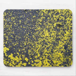 industrial asphalt paint abstract street urban yel mouse mat