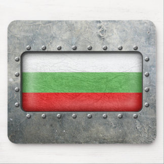 Industrial Bulgarian Flag Mouse Pad
