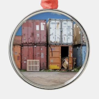 Industrial cargo container for shipping christmas ornament