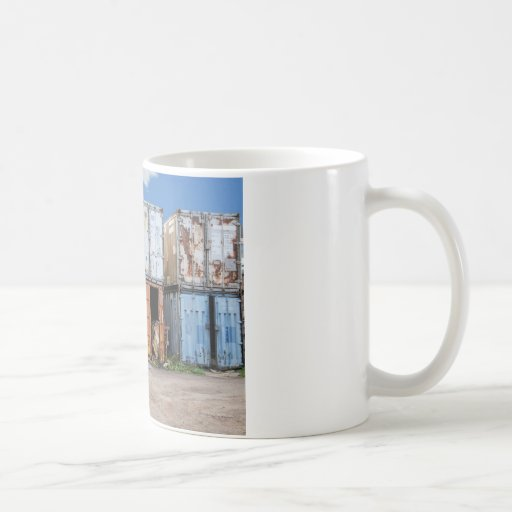 Industrial cargo container for shipping mug