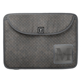 Industrial Diamond Cut Metal Look in Grey & Beige Sleeve For MacBooks