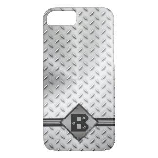 Industrial Diamond Pattern Metal iPhone 7 Case