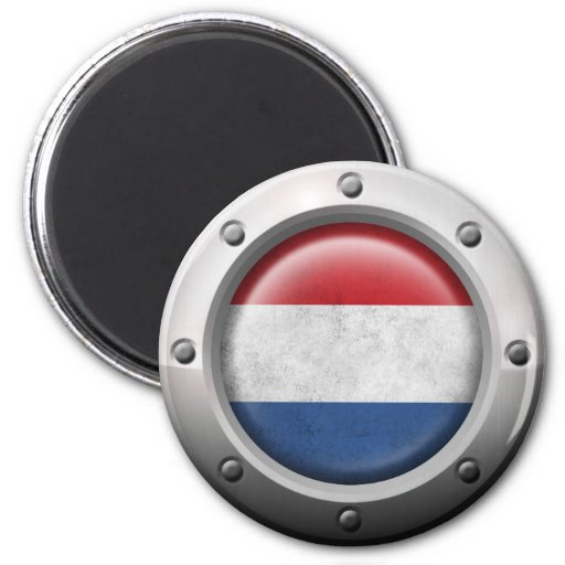 Industrial Dutch Flag with Steel Graphic Fridge Magnets