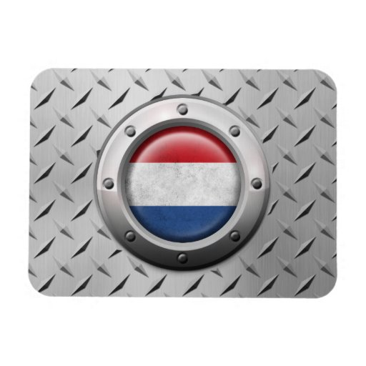 Industrial Dutch Flag with Steel Graphic Flexible Magnet