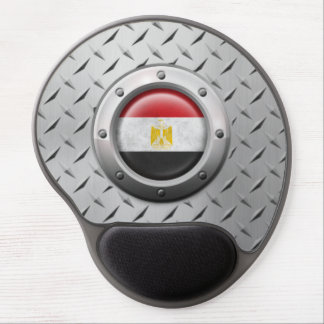 Industrial Egyptian Flag with Steel Graphic Gel Mouse Pad
