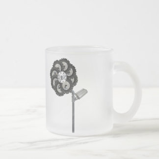 Industrial Flower Frosted Glass Mug