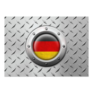 Industrial German Flag with Steel Graphic 13 Cm X 18 Cm Invitation Card