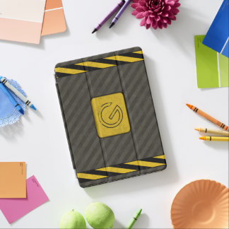 Industrial Grunge Monogram iPad Pro Cover