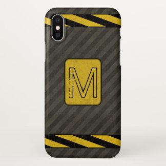 Industrial Grunge Monogram iPhone X Case