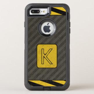 Industrial Grunge Monogram OtterBox Defender iPhone 8 Plus/7 Plus Case