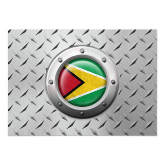 Industrial Guyana Flag with Steel Graphic Personalized Announcement