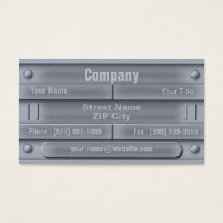Industrial ID Plate Business Card