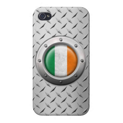 Industrial Irish Flag with Steel Graphic Covers For iPhone 4