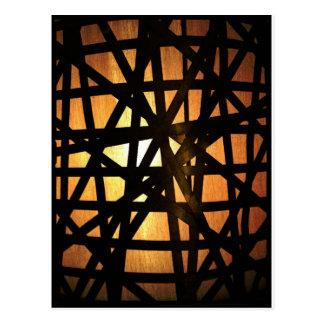 Industrial Lamp Metal Abstract Postcard
